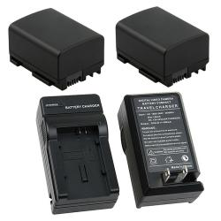 INSTEN 3-piece Battery and Charger Set for Canon VIXIA HF 10/ HF 100