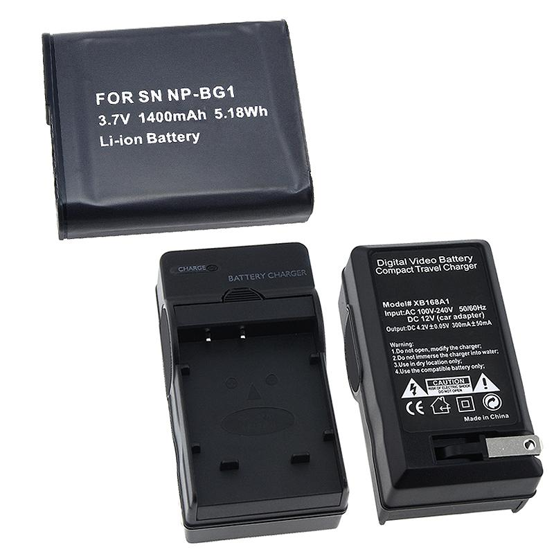 INSTEN 2-piece Battery and Charger Set for Sony NP-BG1/ DSC-H10/ DSC-H3