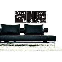 Vinyl Attraction 'Live Freely, Laugh Often, Love Deeply' Wall Decal