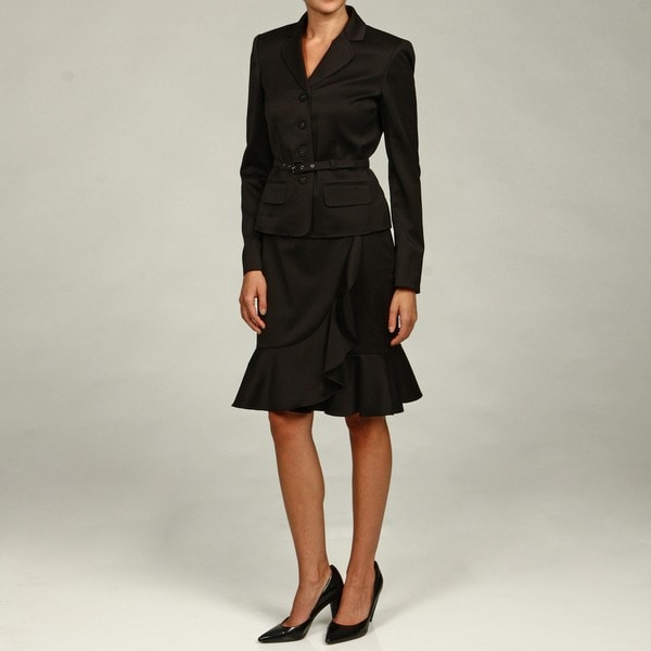 Anne Klein Women's 4-button Single-breasted Skirt Suit