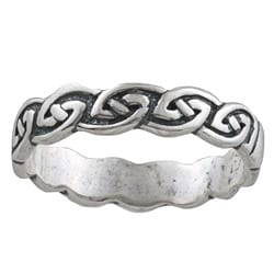 Silvermoon Sterling Silver Celtic Design Band