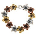 Silvermoon Sterling Silver, Brass and Copper Flower Bracelet