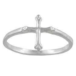 Silvermoon Sterling Silver Cross Design Band