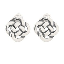 Silvermoon Sterling Silver Celtic Knot Stud Earrings