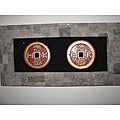 Lava Stone Double Coin Wall Hanging (Indonesia)