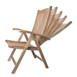 Solid Teak New Style Lounge Chair with Detachable Footrest