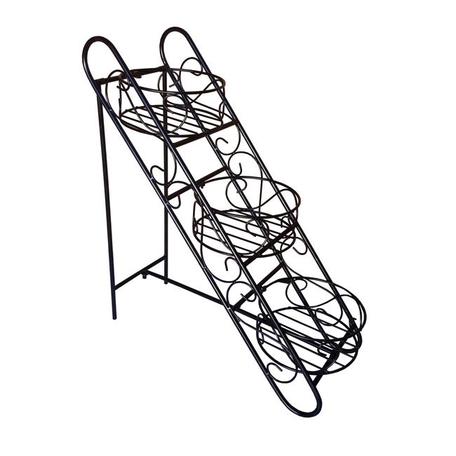 Folding Three Basket Folding Plant Stand