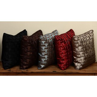 Basket Weave Decorative Throw Pillows (Set of 2)