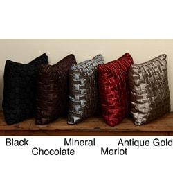 Basket Weave Decorative Throw Pillows (Set of 2)
