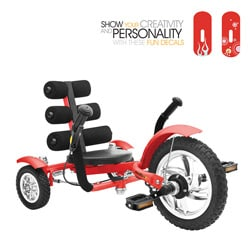 Mobo Mini Red 12-inch Luxury 3-wheeled Cruiser