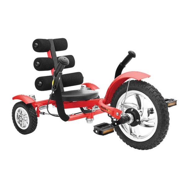 Mobo Mini The World's Smallest Luxury Three Wheeled Red Cruiser