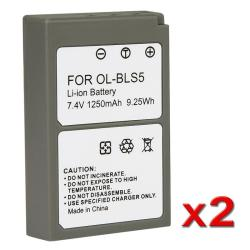 7.4V Li-ion Battery for Olympus BLS-5/ PEN E-PL2 (Pack of 2)