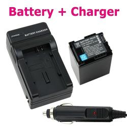 Li-ion Battery/ Charger for Canon BP-827/ VIXIA HF 11