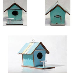 Recycled Wood Ecofriendly Hanging Birdhouse Handmade in Thailand