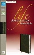 Life Application Study Bible: New International Version Bark / Dark Moss Italian Duo-Tone Personal Size (Paperback)