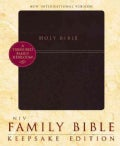 Holy Bible: New International Version Burgundy Italian Duo-Tone Keepsake Edition Family Bible (Hardcover)