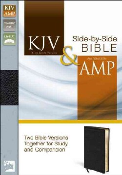 Holy Bible: King James Version & Amplified Black Bonded Leather Side-by-Side Bible (Paperback)
