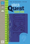 Youth Quest Study Bible: New International Version, Kiwi / Wave Blue, Italian Duo-Tone, The Question & Answer Bible (Paperback)