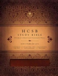 HCSB Study Bible: Holman Christian Standard Bible, Mahogany, Duotone Stimulated Leather (Paperback)