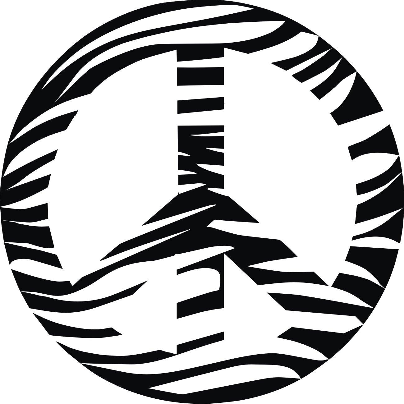 Vinyl Attraction 'Zebra Print Peace Sign' Vinyl Wall Decal