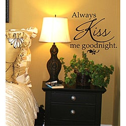 Vinyl Attraction 'Always Kiss Me Goodnight' Black Vinyl Wall Decal