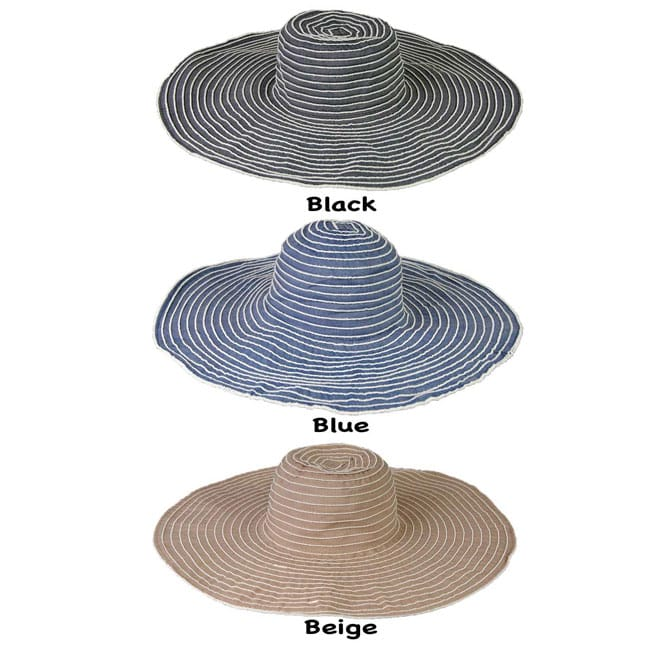 Grosgrain Ribbon Packable Crushable Travel Sun Hat (China)