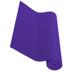 Exercise Fitness Non-slip Purple Yoga Mats (Pack of 2)