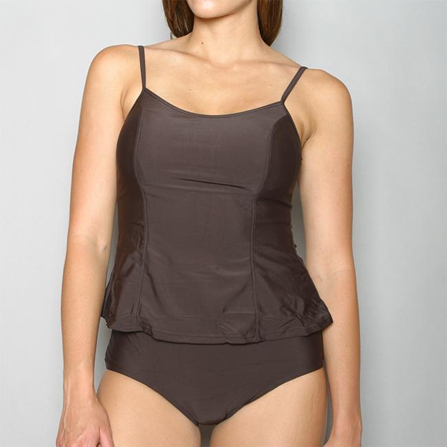 Island World Apparel Women's One-piece Dark Brown Swimsuit