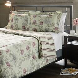 Water Flower Purple Full/ Queen-size 3-piece Comforter Set