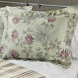 Water Flower Purple King-size 3-piece Duvet Cover Set