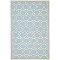 Safavieh Hand-woven Moroccan Reversible Dhurrie Light Blue/ Ivory Wool Rug (3' x 5')