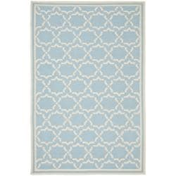 Safavieh Moroccan Light Blue/Ivory Dhurrie Wool Rug (8' x 10')