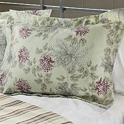 Water Flower Purple 3-Piece Full/ Queen-size Duvet Cover Set