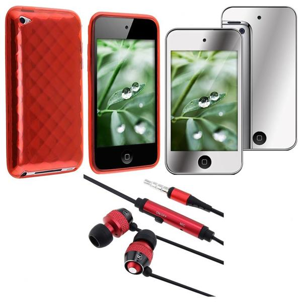 BasAcc Case/ Headset/ Mirror Screen Protector for Apple iPod touch 4
