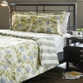 Water Flower Ivory 2-Piece Twin-size Duvet Cover Set