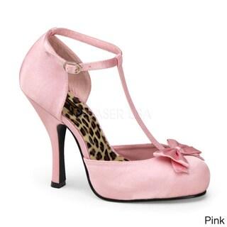 Pinup Couture Women's 'Cutiepie' Bow-tie T-Strap Dorsey Pumps