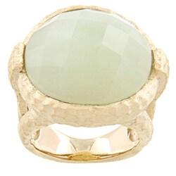 Rivka Friedman Gold Overlay Jade Ring