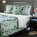 Grace Blue Full/ Queen-size 3-piece Duvet Cover Set
