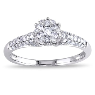 Miadora 14k White Gold 1/3ct TDW White Diamond Engagement Ring (G-H, I1-I2)