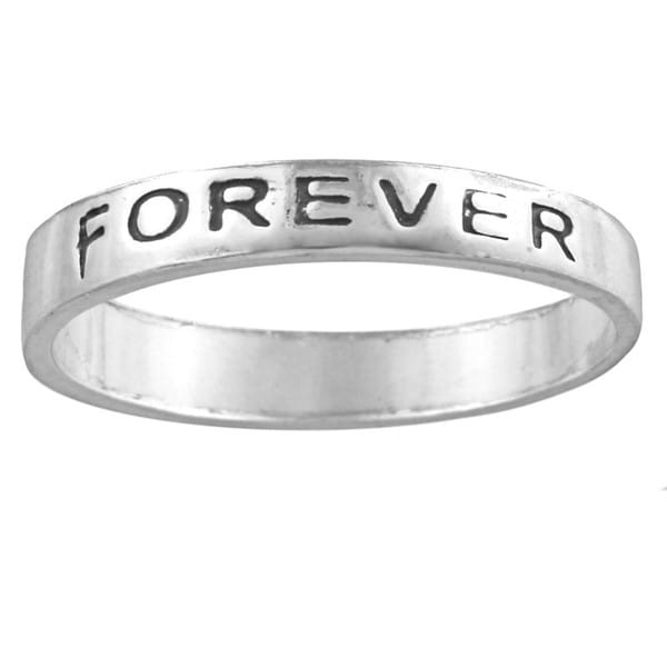 Silvermoon Sterling Silver 'Friends Forever' Band