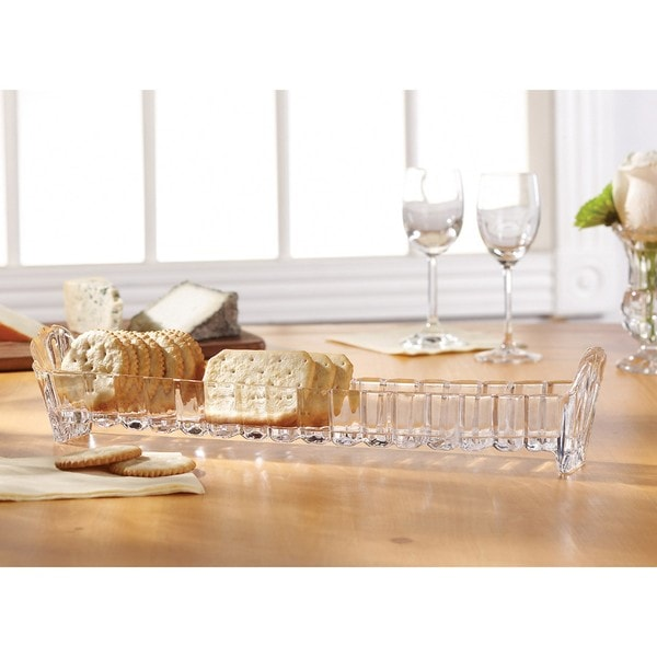 Crystal Clear Alexandria 13.75-inch Cracker Tray