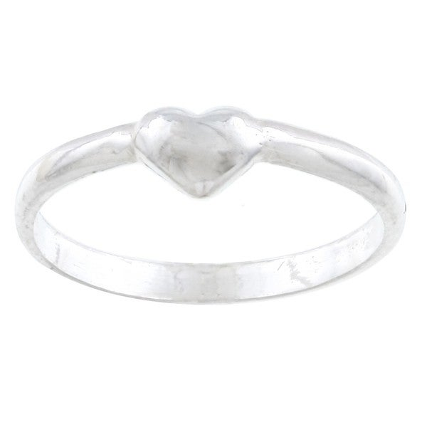 Silvermoon Sterling Silver Children's Heart Band