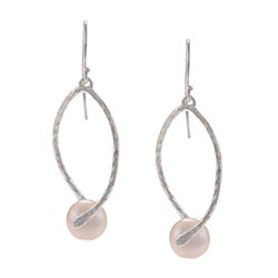 Sterling Silver Freshwater Pearl Dangle Earrings (10 mm)(Israel)