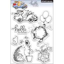 Penny Black 'Hello Friend' Clear Stamps Sheet