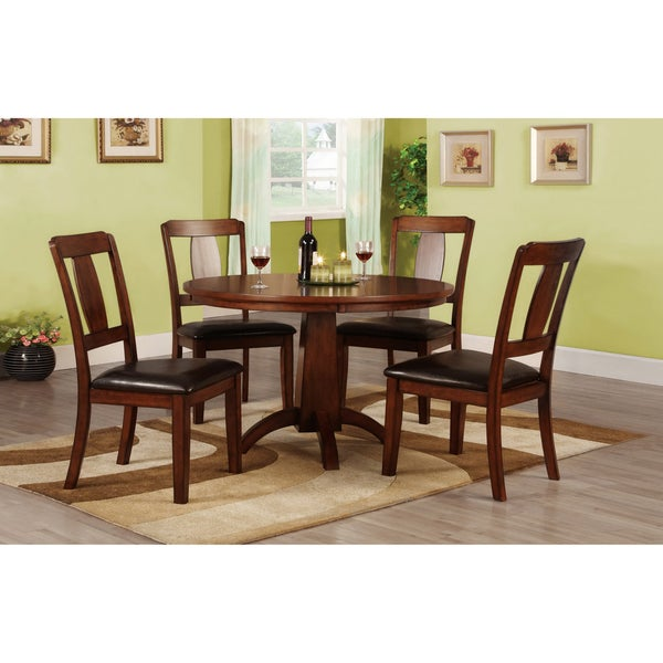 Furniture of America Martine Antique Dark Oak Dining Table