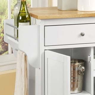 Maryland Wood Top Kitchen Cart