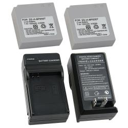 3-piece Battery/ Charger Set for Samsung IA-BP85ST/ HMX10/ SC-MX10