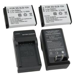 3-piece Battery/ Charger Set for Samsung SLB-10A/ SL502/ SL720/ SL820
