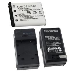 Battery/ Charger Set for Casio Exilim NP-80/ EX-Z550/ EX-Z330 (Refurbished)