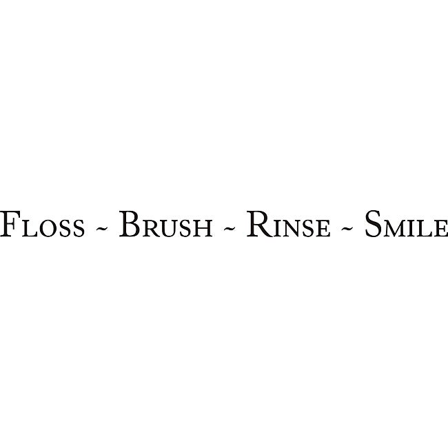 Design on Style 'Floss - Brush - Rinse - Smile' Vinyl Art Quote